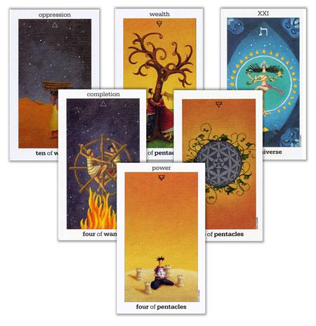 3 2 1 tarot spread with the sun and moon tarot deck