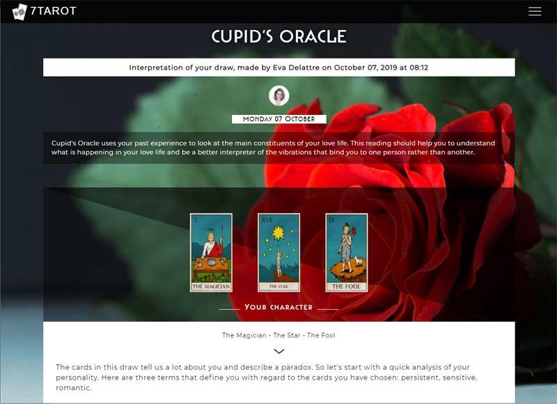 7tarot.com cupids-oracle tarot reading