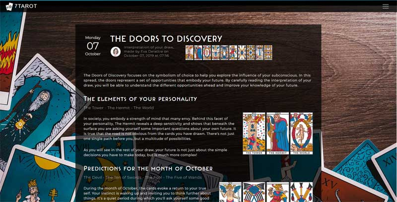 7tarot.com doors-to-discovery tarot reading