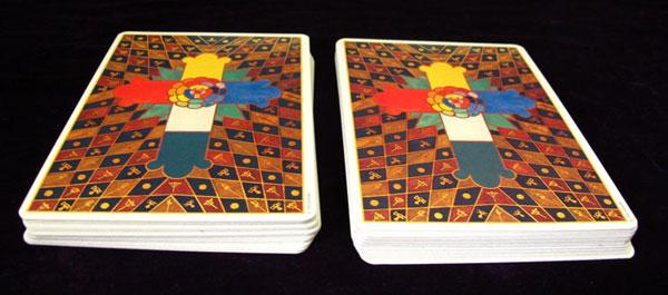 tarot card shuffle double cut